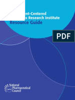 The Patient-Centered Outcomes Research Institute Resource Guide