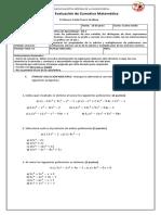 Evaluacion Sumativa Polinomios Ruffini Recupertaiva 2018.