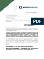 PROYECTO DE ORDENANZA BOLETO GRATUITO URBANO E INTERURBANO PARA ESTUDIANTES Y DOCENTES DE LA EDUCACIÓN PÚBLICA DE GESTIÓN ESTATAL.