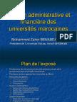 Gestion Administrative Et Financière Des Universités Marocaines