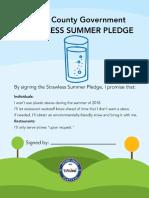 Pledge for Strawless Summer