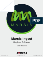 Marsis Ingest User Manual v152