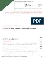 Hazardous Area Classification Interview Questions