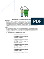 Planes de Manejo de Residuos Aeroportuarios