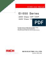 EI 550 Manual
