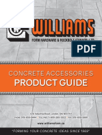 Williams Concrete Product Guide Booklet