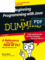 Beginning Programming With Java For Dummies, 2nd Edition (2005)