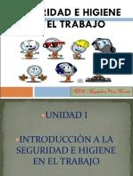 Unidad 1.  Introducción a la seguridad e higiene en el trabajo.