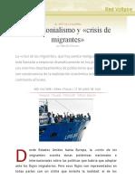 Neocolonialismo y «Crisis de Migrantes», Por Manlio Dinucci