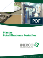 INERCO Plantas Potabilizadoras Portatiles