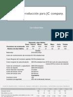 Planes de Producción JC company Administración de las operaciones 2