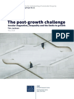 The Post-growth Challenge. Secular Stagnation, Inequality and the Limits to Growth (Jackson 2018)