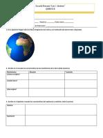 Examen de geografía quinto