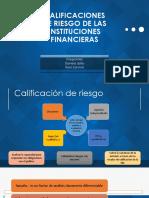 Calificaciones de Riesgo de Las Instituciones Financieras