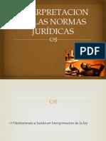 Interpretacion de Las Normas Jurídicas