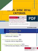 Criterios de Sepsis. Colque Espinoza, Patricia Marlene.