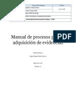 Manual de Procesos Para La Adquisición de Evidencias
