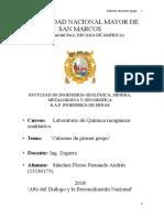 3er  Informe de Laboratorio de química Inorgánica ( UNMSM)
