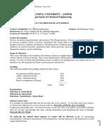 Course Handout for Process Plant Design