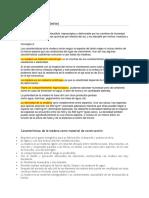 Caracteristica de La Madera