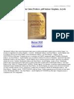 Meditação Judaica Um Guia Prático