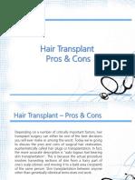 Hair Transplant Pros&Cons