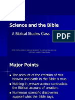 Science and the Bible Blue