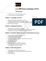 IBM Unica Campaign Course Contents  IBM Unica Campaign online training