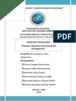 Formas y Sistemas de Control Del Presupuesto