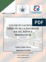 Coloquio Nacional de Derecho de La Seguridad Social, Retos y Perspectivas