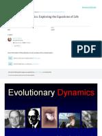 Evolutionary Dynamics Exploring the Equations of L