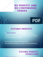 Futuro Perfetc and Futuro Continuous Tenses