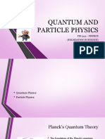 7 Quantum and Particle Physics
