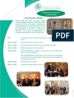 Programme Prévisionnel Speed Sciences 2018
