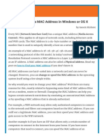 Mac Address Change