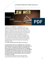 Lawweb.in-whether Seeking Financial Help From Wife Amount to Cruelty