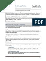 The Essentials of Mobile App Testing v2 April 2014