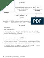 Amendements au projet de loi Relations commerciales dans le secteur agricole et alimentaire