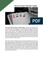Poker Online Indonesia Dengan Teknologi Canggih