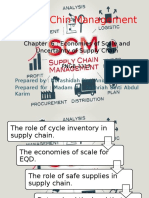 Chapter 6 Economies of Scale and Uncertainty of Supply Chain