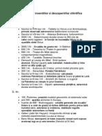 Cronologia Inventiilor Si a Descoperirilor Stiintifice