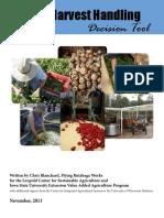 2013 11 Post Harvest Handling Decision Tool