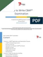 How to Write Cbap Examinations