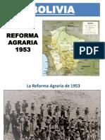 Bolivia Reforma Agraria