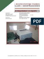 Formato de Avaluo de Maquinaria y Equipo