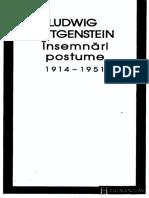 Ludwig Wittgenstein - Insemnari postume 1914-1951.pdf