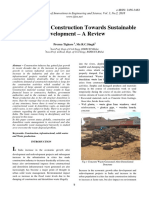 Future of Civil Construction Towards Sustainable Development – a Review