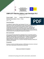 Cimplicity Machine Edition LD PLC Training 14 Sep 07