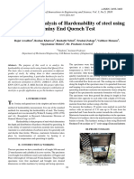 Comparative Analysis of Hardenability of Steel Using Jominy End Quench Test