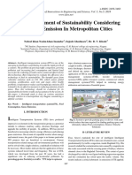 ITS for Assessment of Sustainability Considering Vehicular Emission in Metropolitan Cities